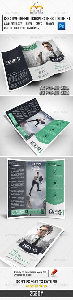 Creative Tri-Fold Corporate Brochure 21