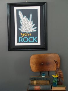 You Rock hand printed Letterpress print by rollandtumblepress, $25.00