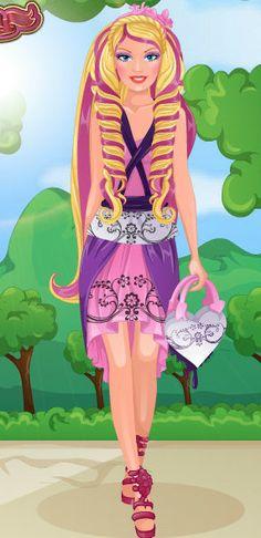 Fijate en como era antes #barbie y como es ahora con su #belleza http://www.juegos-vestir.net/jugar/la-transformacion-de-barbie