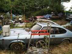 Abandoned Vehicles, Abandoned Cars, Car Barn, Rust In Peace, Ford Capri, Rusty Cars, Barn Finds, Old Cars, Ghosts