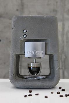 Espresso Solo - Concrete Espresso Machine for Lavazza by Shmuel Linski