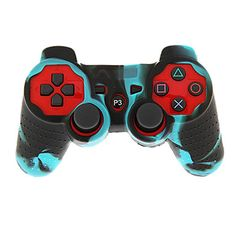 Wired+Dual+Shock+Controller+with+Silicone+Skin+Cover+for+PS3+–+GBP+£+8.39