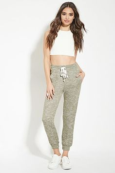 Marled French Terry Sweatpants | Forever 21 - 2000173786