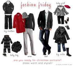 Fall/Winter Family Fashion Guide - What to wear for your photo shoot. Family Photo Colors, Family Picture Outfits, Christmas Portraits, Family Portraits, Christmas Photos, Holiday Pictures, Xmas Pics, Christmas Minis, Thanksgiving Photos