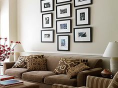 Hanging Picture Frames Ideas with table lamp