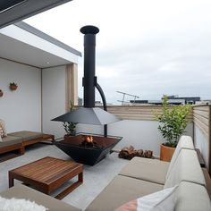 The Block Glasshouse: Appartement 6 Semaine 1 l Terrasse, Cuisine Rooftop Terrace, Terrace Garden, Roof Terrace Design, Terrace Ideas, Outdoor Rooms, Outdoor Living, Outdoor Decor, The Block Australia, The Block Glasshouse