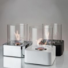Portable Ceramic Fireplace By Brasa Fire | Fireplace: Portable Mini Fireplace In Modern Design By Brasa Fire: Architecture Design | Home Decoration | Furniture