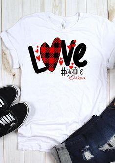 Buffalo Plaid Love Svg Gigi Svg Svg Digital Cut Files Sublimation Design Svg Dxf Ai Eps Pdf Png Jpe - Love Shirts - Ideas of Love Shirts - - T Shirt Designs, Love Shirt, Shirt Style, Vinyl Shirts, Tee Shirts, T Shirt World, Valentines Day Shirts, T Shirts For Women, Clothes For Women