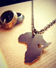 Africa Love Personalize Location of the Heart.  Would make great gift with heart over Uganda hint hint @Eric Newsome  @Bailey Walkup  ;)
