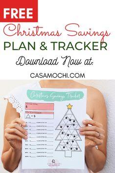 Free and Festive Christmas Savings Tracker! Download now! Christmas savings, Christmas savings tracker, how many weeks until christmas, savings tracker, Christmas budget #christmas #christmassavings #christmassavingstracker #christmasbudget