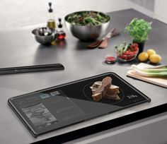 The Almighty Board: tablet & cutting board with integrated scale
