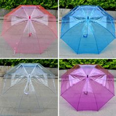 5ddbe9c375 New Lady Clear Umbrella Thick Plastic Rain Umbrella Dance Props Umbrella  Gift in Clothing