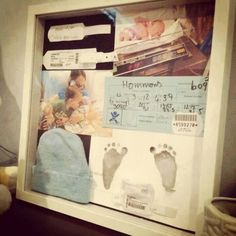 DIY Newborn Shadow box to keep the Memories