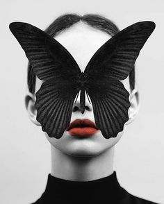 Already in my wishlist!  How Awesome Is This #ArtPrint ?? Black #Butterfly