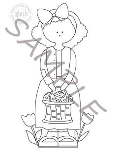 Easter Girl Applique Stitchery Painting Pattern by petestreasures, $1.50
