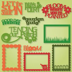 My Happy Garden Sayings and Frames SVG Collection - $3.49 : SVG Files for Silhouette, Sizzix, Sure Cuts A Lot and Make-The-Cut - SVGCuts.com