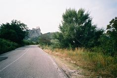 oneiricdaze:  On the road to San Leo Italy. Summer 2015  That fortress is where the occultist Cagliostro was tortured to death by the Inquisition.
