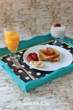 seven thirty three - - - a creative blog: Custom Serving Tray for Mother's Day Breakfast
