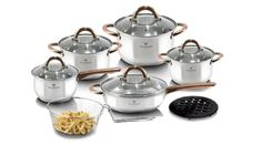 Blaumann Gourmet Line 13 részes rozsdamentes acél edénykészlet réz színű fogókkal - BLACK FRIDAY Sugar Bowl, Bowl Set, Products, Gourmet, Gadget