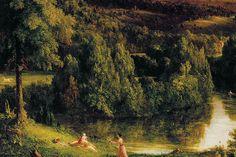 Take a Deep Dive Into the Hudson River School's Founding Artist Hudson River School, Romanticism, Hudson Valley, American Art, Diving, 19th Century, Scene, Explore, Landscape