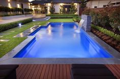 Pool plan - grass , brick pavers, white pool pavers & decking. Next summer cannot come soon enough.