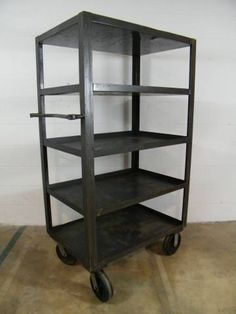 Columbus Architectural Salvage - Industrial 5 Tier Metal Cart