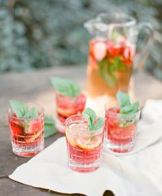2015 Bridal Horoscopes – Aries Bride Strawberry Basil Sangria // photo by @ktmerry, cocktail by @soireecenter