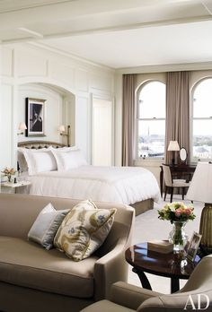 Traditional Bedroom by Monique Gibson Interior Design LLC in Charleston, South Carolina Awesome Bedrooms, Beautiful Bedrooms, Architectural Digest, Master Bedroom Design, Master Bedrooms, Bedroom Designs, Master Suite, Bedroom Styles, Traditional Bedroom