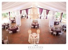 Biltmore Estate Diana wedding reception with silver and purple glam details. Draping and chandeliers topped off the romantic designs.   Photo: @realities   Planning: @avleventco   Read more: http://www.realitiesphotography.com/blog/2015/08/ellen-and-liam-wedding-at-diana-at-biltmore-estate/
