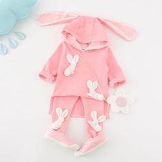 Cheap kids clothes, Buy Quality girls clothes directly from China girls clothing sets Suppliers: 2017 Spring Baby girls clothing sets newborn baby suit rabbit ears hooded girls clothes cartoon sweater kids clothes pink cute Cheap Kids Clothes, Baby Kids Clothes, Baby & Toddler Clothing, Toddler Outfits, Kids Outfits, Newborn Clothing, Baby Suit, New Baby Girls, Toddler Girls