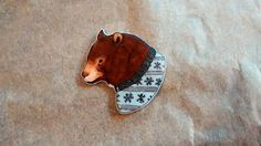 Hey, I found this really awesome Etsy listing at https://www.etsy.com/listing/213252519/christmas-knitwear-bear-brooch