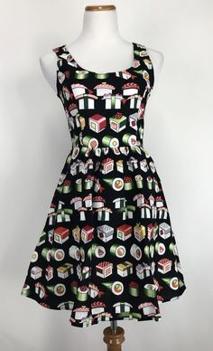 ModCloth Folter Retrolicious 1950s Sushi Bento Box Swing Dress #Folter