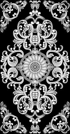 灰度图精雕图浮雕洋花模板下载(图片编号:113_360图片 Wall Stencil Patterns, Wood Carving Patterns, Carving Designs, Stencil Designs, Islamic Art Pattern, Pattern Art, Pattern Design, Zbrush, Motif Baroque