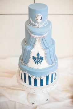 Ballet & Theatre Inspired Wedding Cake by SweetFixrva.com - See more here: http://www.StyleMePretty.com/2014/05/15/richmond-ballet-wedding-inspiration/ Photography: JessicaMaida.com