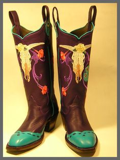 My embroidery on a pair of custom boots!!
