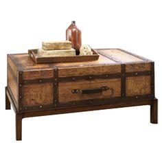 Hidden Treasures Trunk Coffee Table