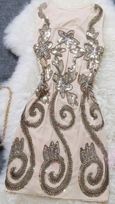 Nice Embroidery Sequin Party Dress