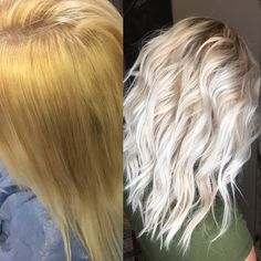 Blonde hair color balayage Color correction on blonde hair #blonde #balayage
