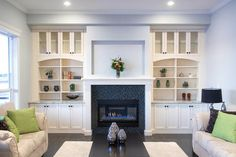 Love The Enclosed Storage At Bottom Of These Built In Cabinets Around A Fireplace