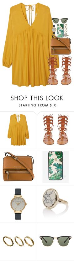 """""""Untitled #1040"""" by ohsnapitzblanca ❤ liked on Polyvore featuring MANGO, Valentino, Givenchy, Sonix, Olivia Burton, Made, Ray-Ban and GUESS by Marciano"""