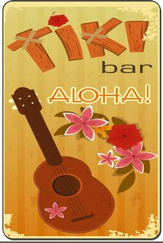 Aloha Tiki Bar Vintage Decorative Metal Sign