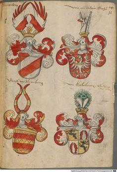 Wappen deutscher Geschlechter Augsburg ?, 4. Viertel 15. Jh. Cod.icon. 311 Folio 75r