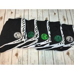 Set of 5 Woman Teen Ladies Monogrammed Athletic Short With Mesh... ($95) ❤ liked on Polyvore featuring activewear, activewear shorts, black, shorts, women's clothing, women activewear and columbia sportswear