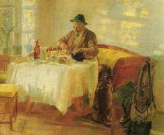 Anna Ancher (1859-1935): frokost for jagten, 1903