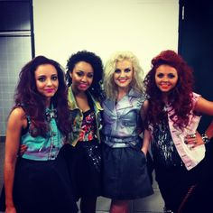 Little Mix backstage on tour! Mixers HQ x