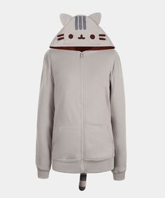 Pusheen the Cat costume hoodie (unisex) - This adorable costume hoodie is purrfectly Pusheen! Pair it with gray sweatpants for a full costume look, or with jeans for a cute casual look! Pusheen Cat, Pusheen Stuff, Pusheen Shop, Hooded Sweatshirts, Hoodies, Cute Costumes, Halloween Costumes, Kawaii Clothes, Gifts