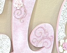 Custom Nursery Letters Baby Girl Nursery Decor by TheRuggedPearl
