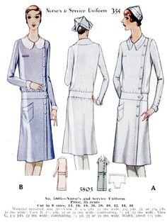 Vintage Nurses Uniforms Im so glad scrubs were invented! Mccalls Patterns, Vintage Sewing Patterns, Dress Patterns, History Of Nursing, Medical History, Nurse Photos, Licensed Practical Nurse, Professional Nurse, Vintage Outfits