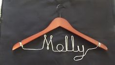 A great idea for personalising hangers. Great for hanging outfits (bride and bridesmaids and even groom) for the wedding too!