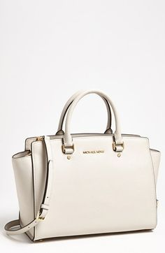 09763b35a531 MICHAEL Michael Kors Selma - Large Leather Satchel - Yes please! Saving up  for some Spring splurges. Emily🍒 · Bags Gamuza ♡